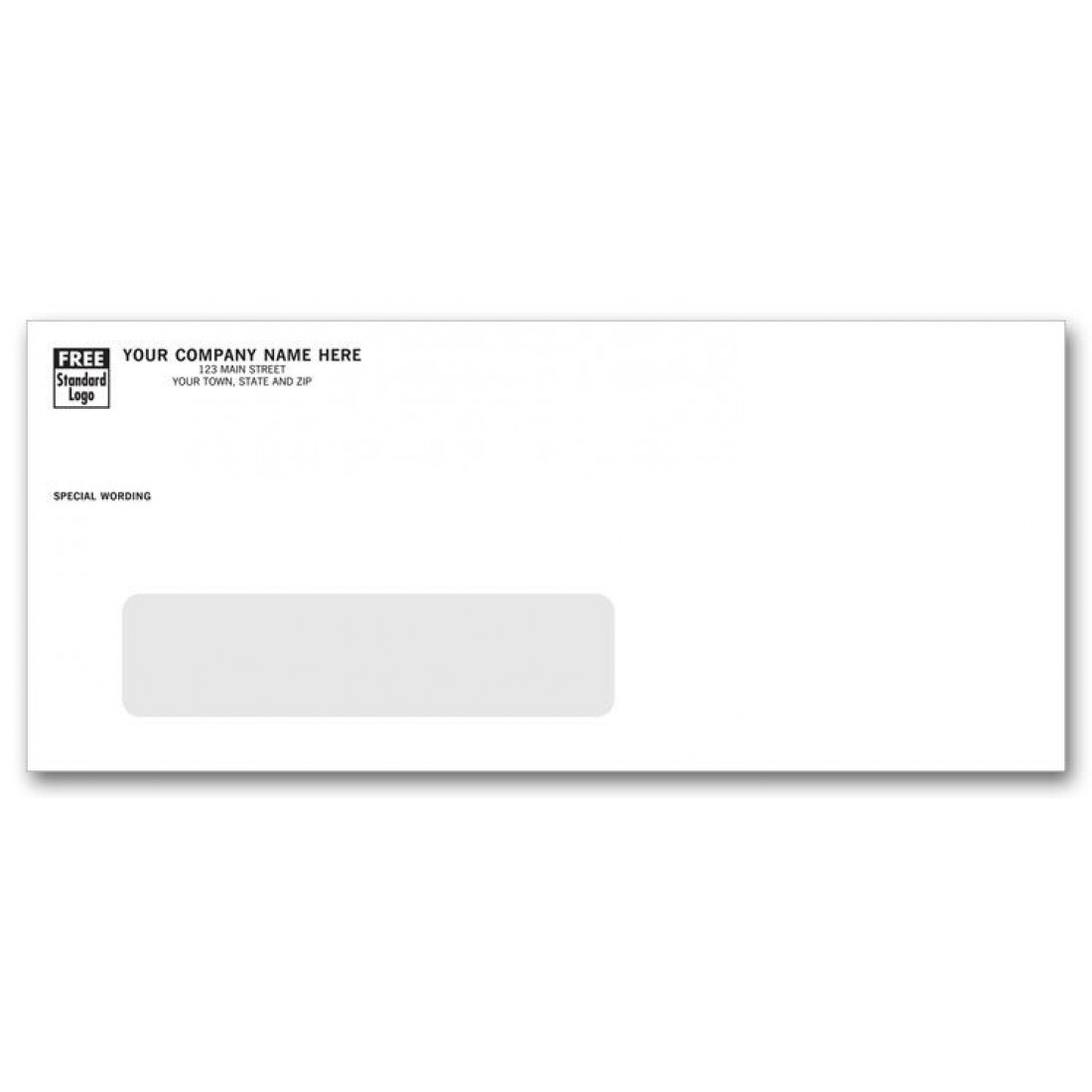 10 large single window envelopes free shipping for Window envelopes