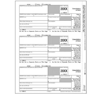 1099 C Tax Form Copy A