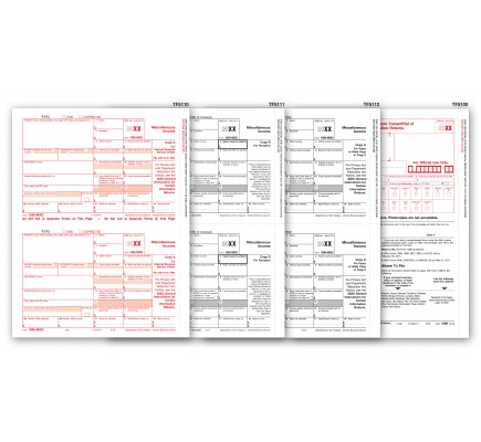 1099 MISC Tax Forms 4 Part Kit