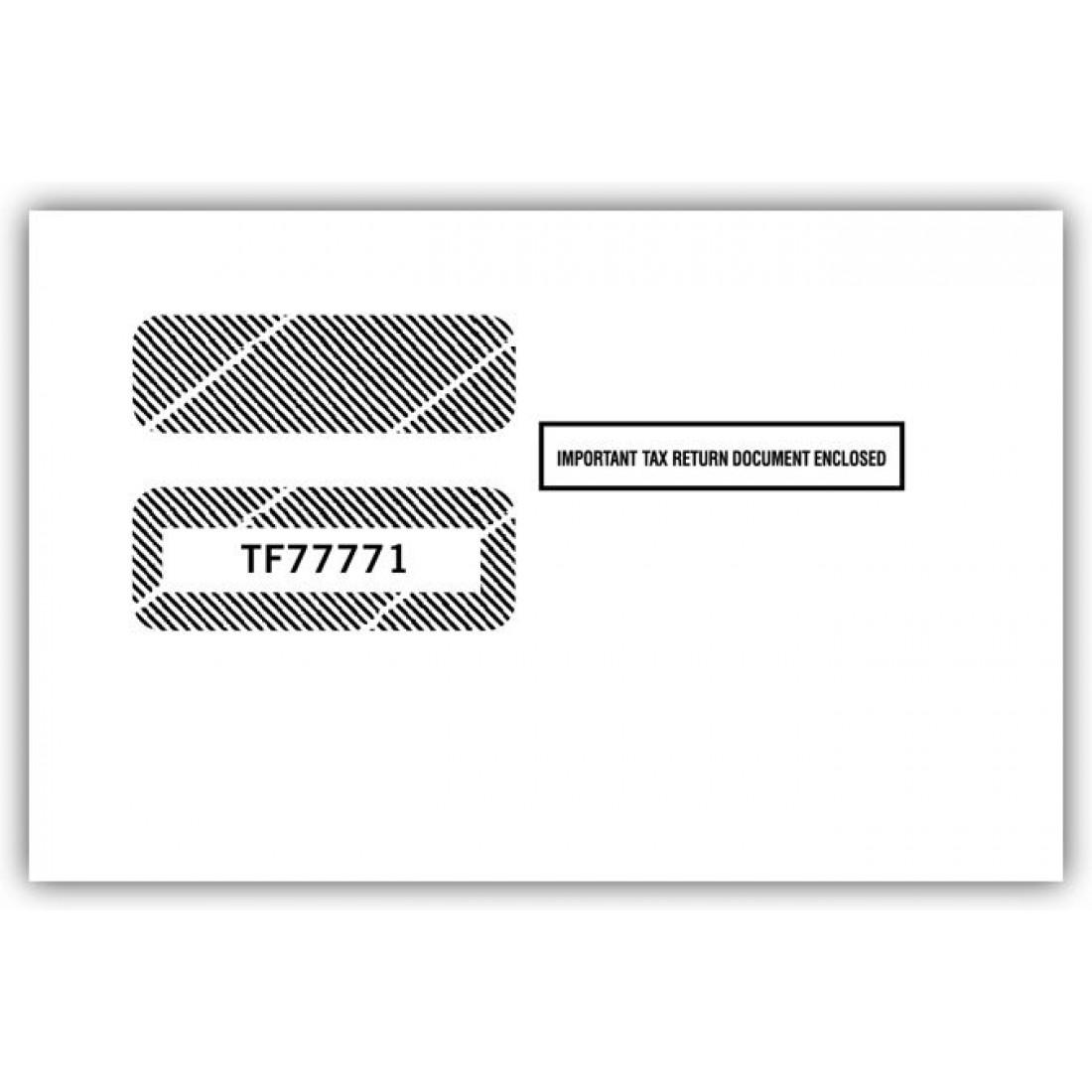 2017 1099 2 Up Double Window Envelope