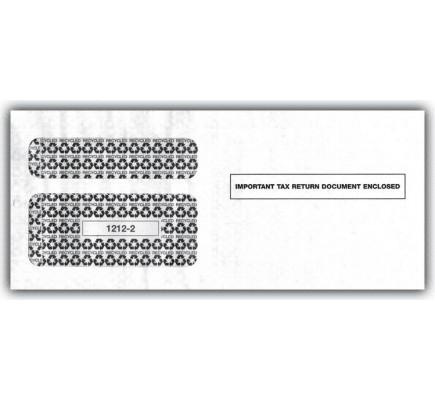 2017 1099 Double Window Envelope, Self Seal