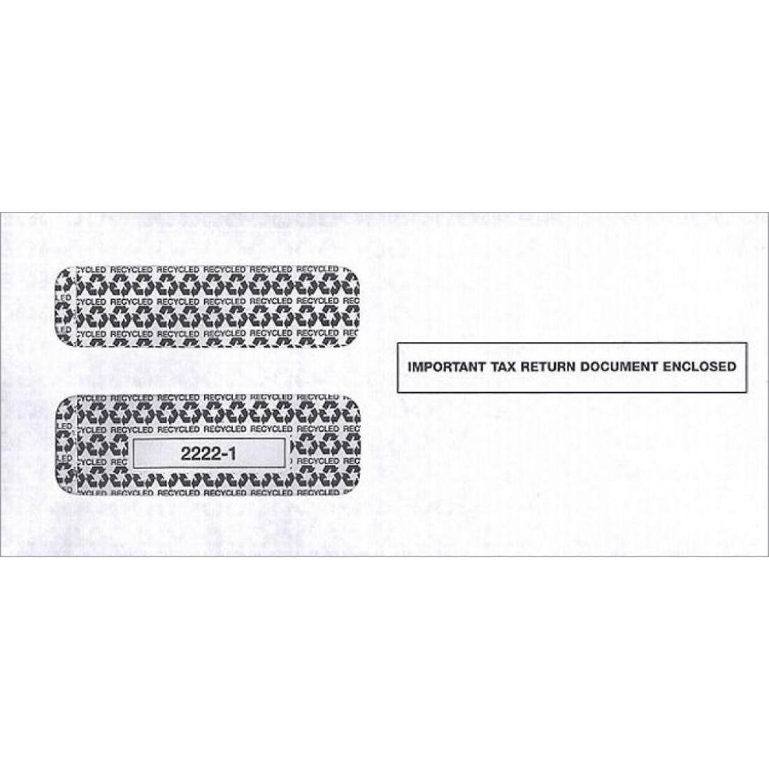 2017 1099 Double Window Envelope