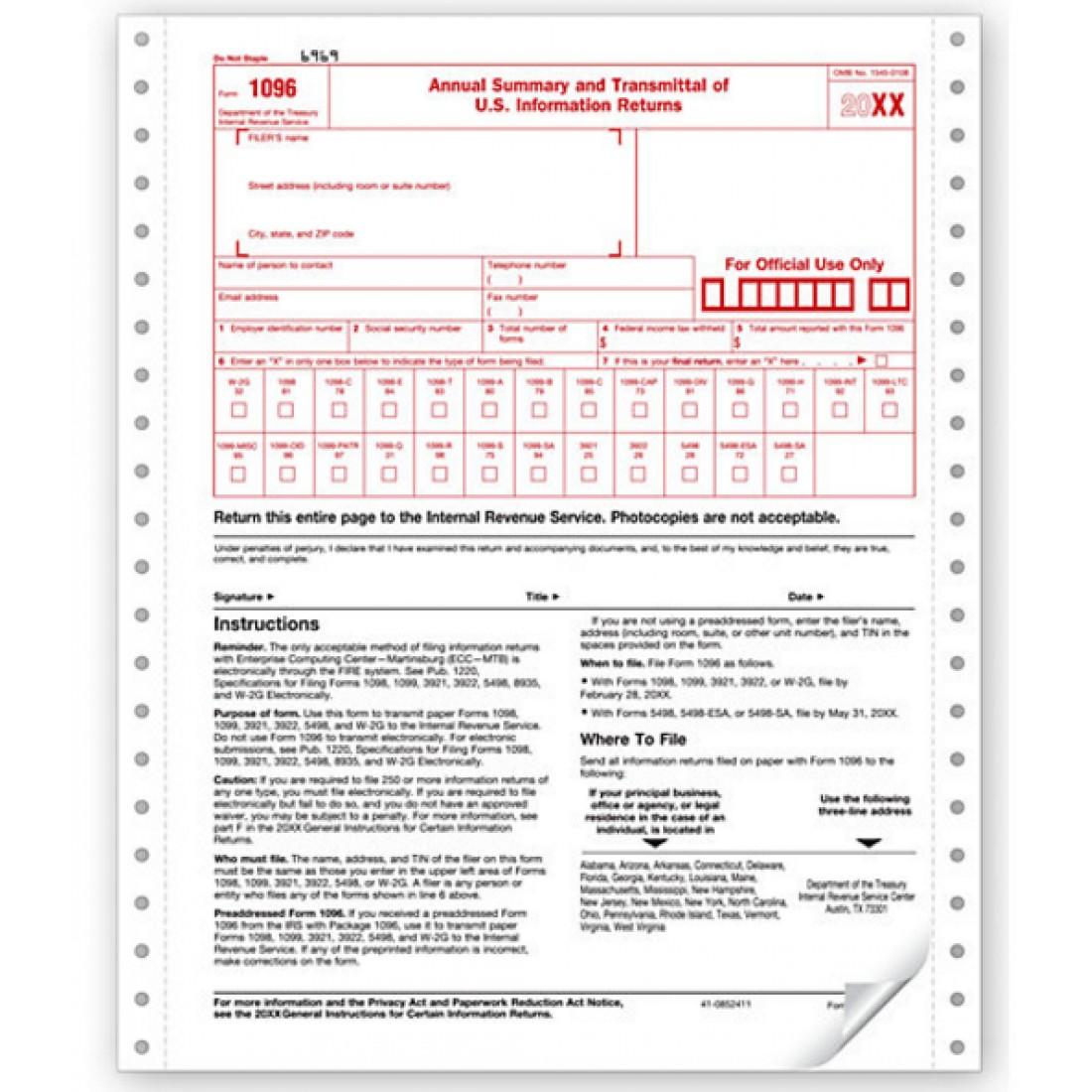 tax form 1096 - Heart.impulsar.co