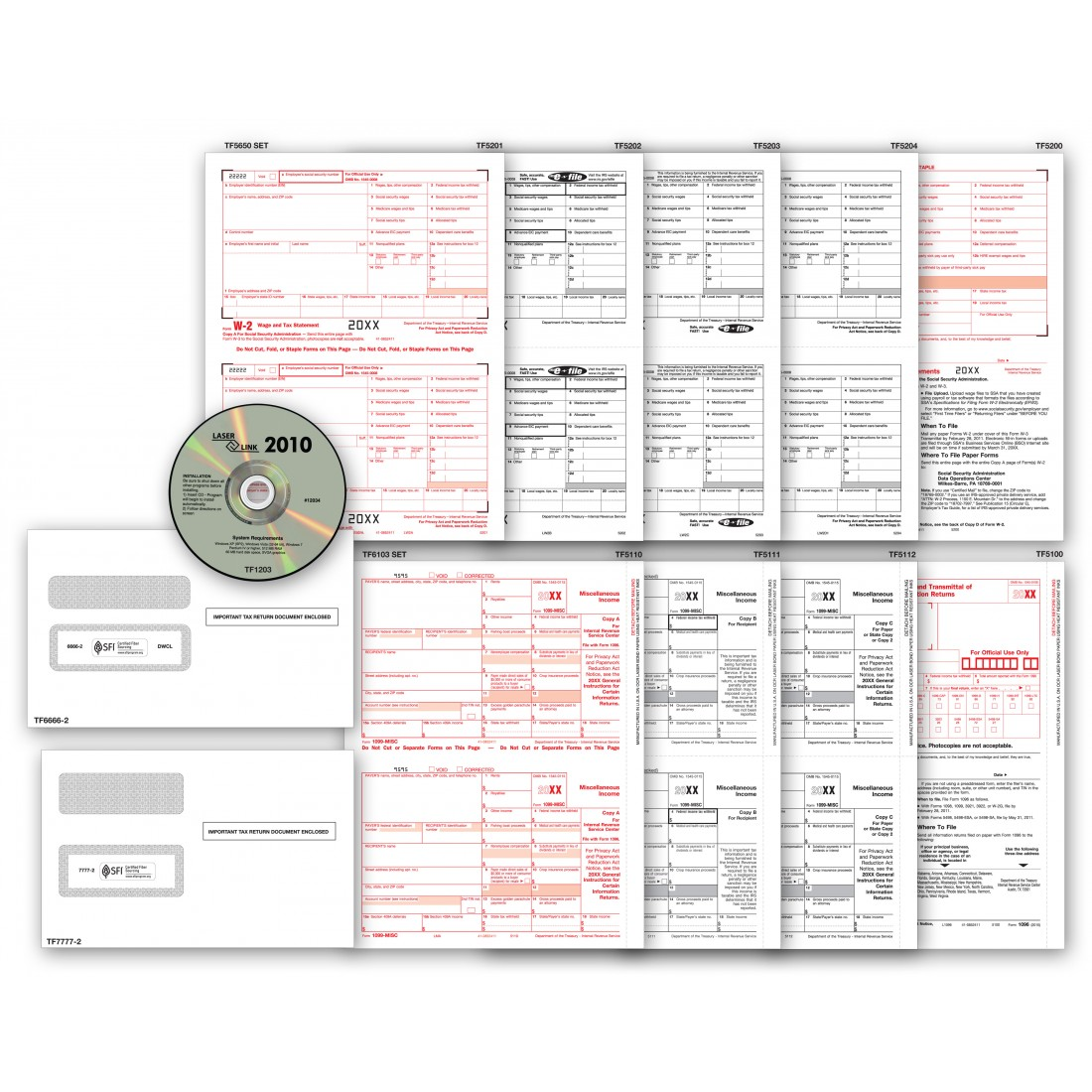 2017 Laser Link 1099 Tax Form and Tax Software Kit