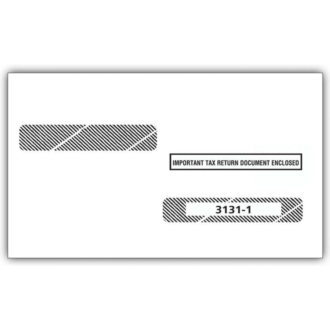 2017 Laser W 2 Double Window Envelope