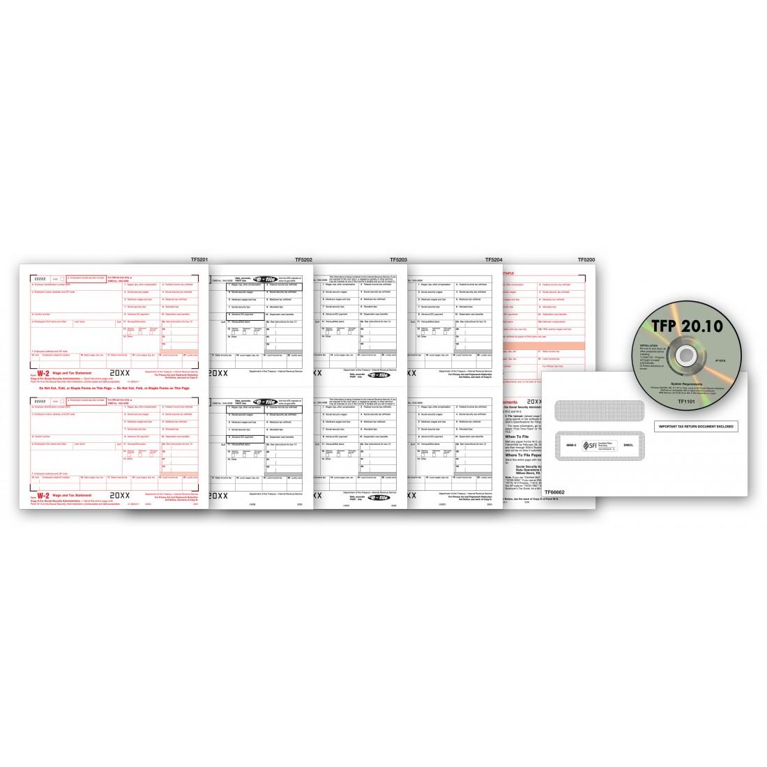 2017 Laser W 2 Tax Form & Tax Software Bundle