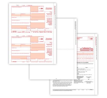 2020 1099 NEC LZR PACKAG BLNK SET 5PT(50 EMP)