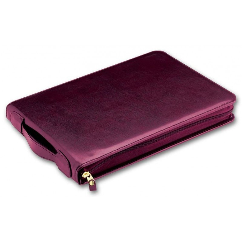 3-Per-Page Leather Check Binder 53248N At Print EZ