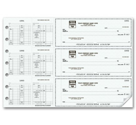 53263N, 3-To-A-Page Hourly Payroll Checks