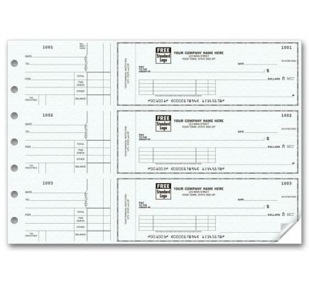 3-To-A-Page Voucher Checks (53222N) - 3-To-A-Page Checks  - Business Checks