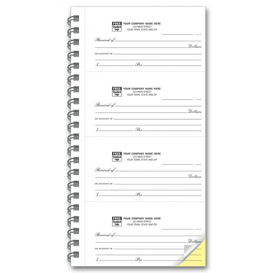 4 to Page 2 Part Receipt Books