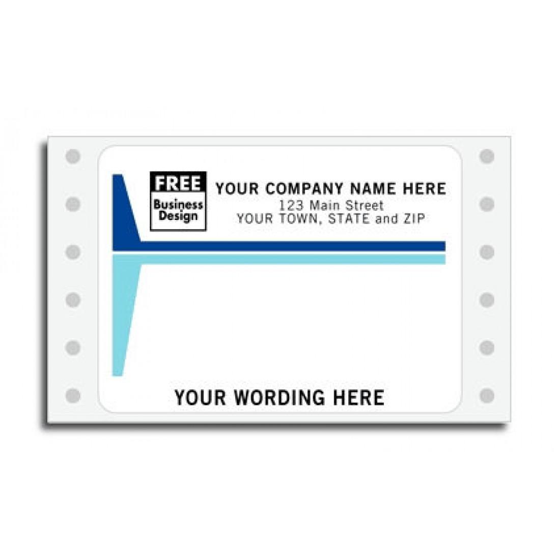 50 Lb Continuous Mailing Labels Item No  1214 Size: 3 7/8