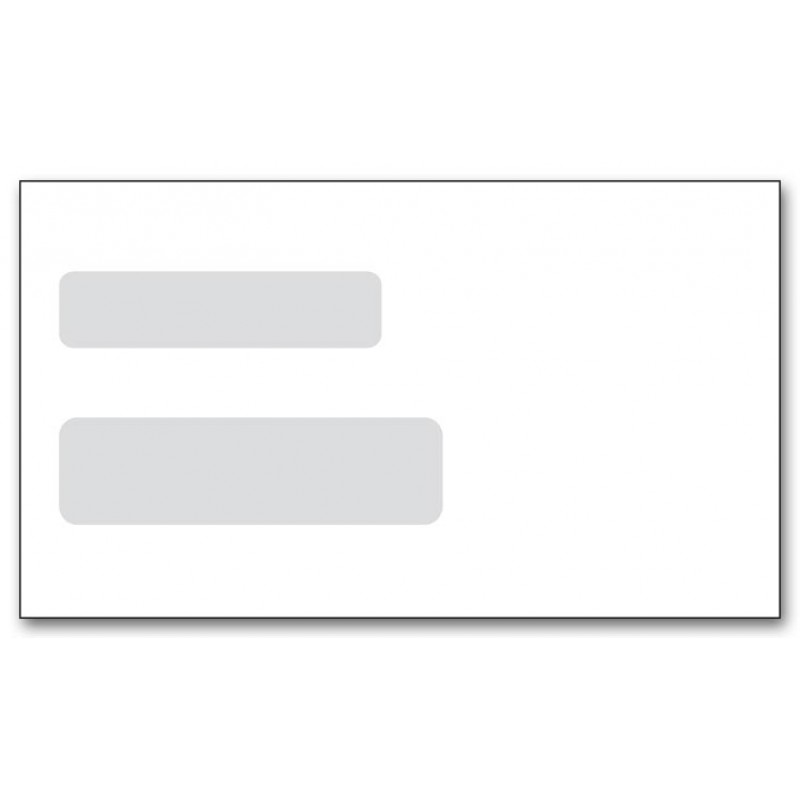 6 3/16 x 3 3/4 Double Window Envelope