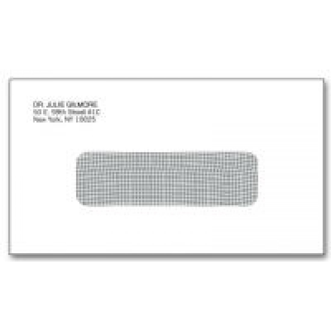 #6 Single Window Envelopes