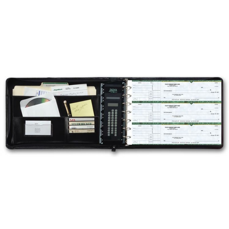 Business Size Checkbook Covers : Ring business checks organizer n at print ez