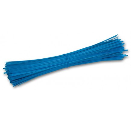 "9"" Plastic Coated Blue Wire Ties"