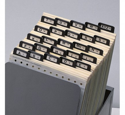 A Z Index Guides Metal Tabs 6.5 X 9 1/4