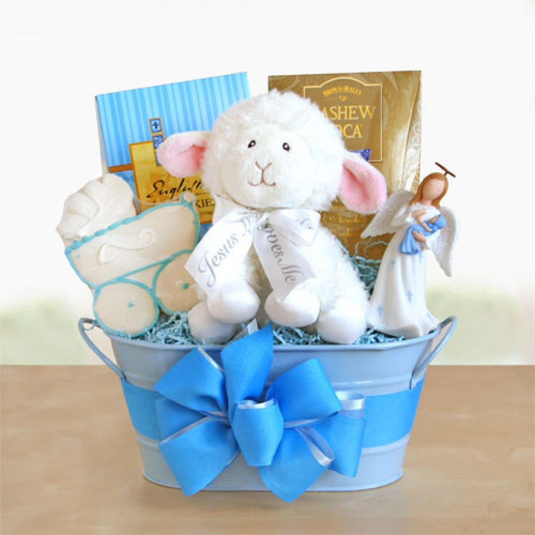 Gift Baby Boy Baptism : Blue boy christening gift baskets free shipping