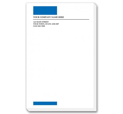 Blue Imprinted Large Memo Pads