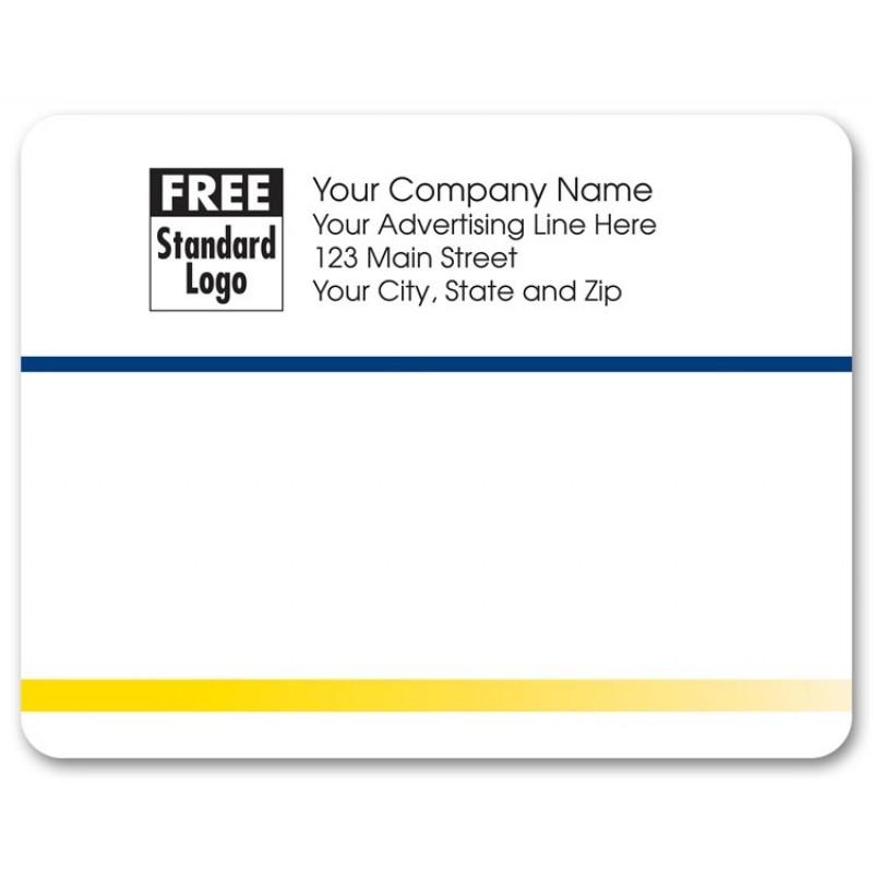 blue yellow rectangular mailing label free shipping