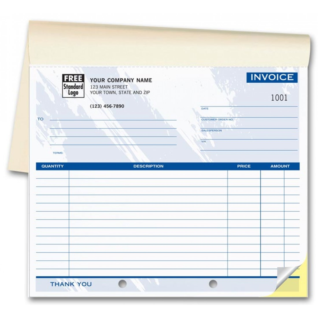 Booked Colored Compact Business Forms