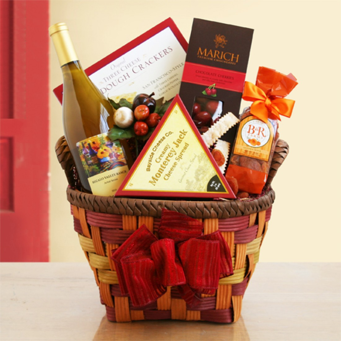 Bountiful Wine N Fruit Gift Basket