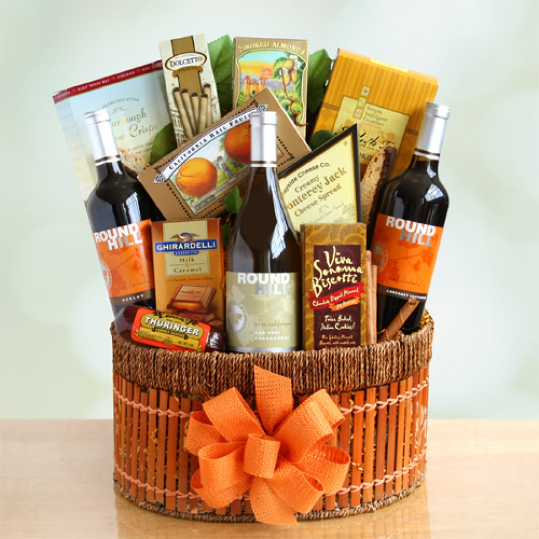 California Holiday Wine Baskets