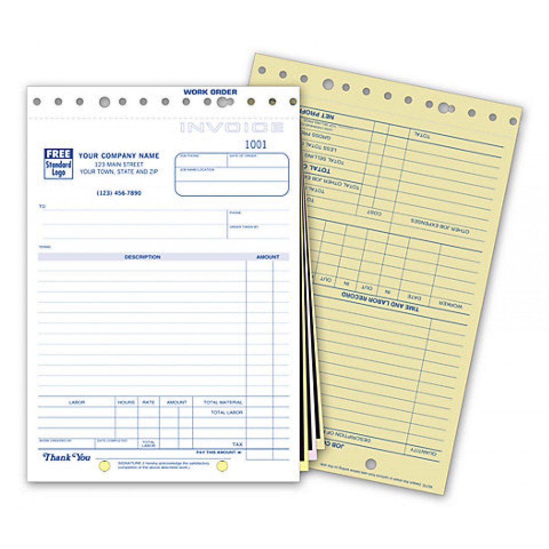 Carbon Copy Job Invoice Forms