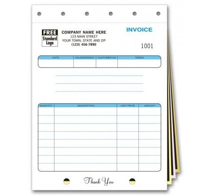 Carbon Copy Job Invoice Forms