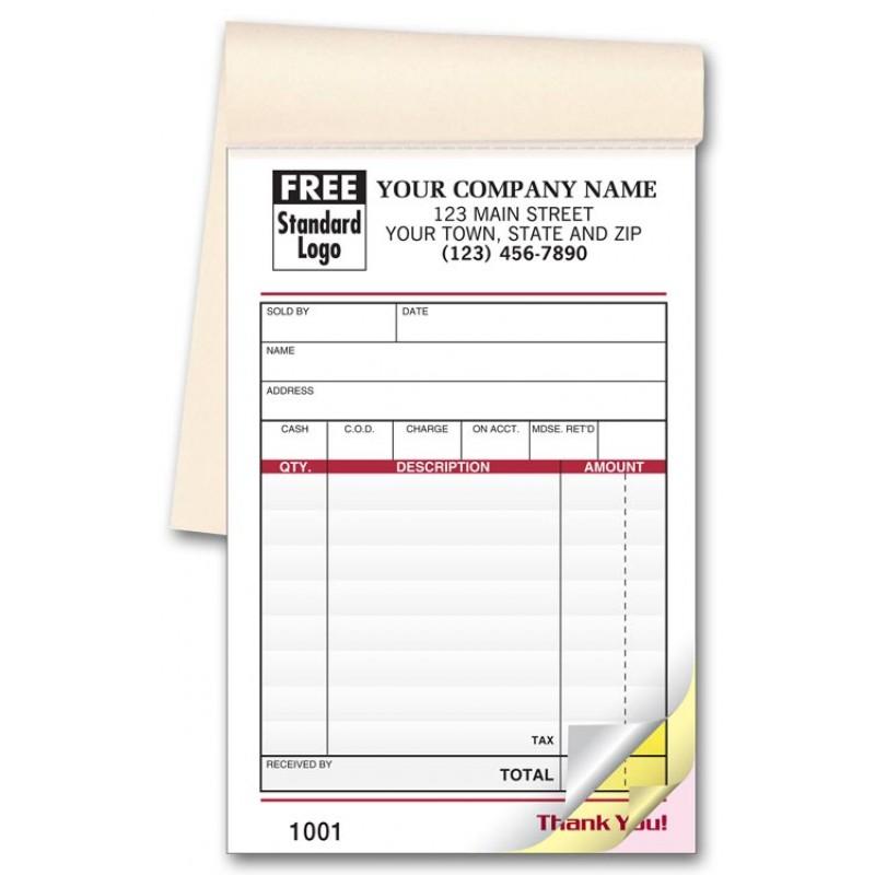 carbonless custom sales receipt books 2540 at print ez
