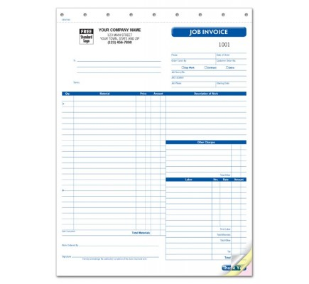 Carbonless Work Order Forms