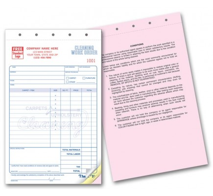 Carpet Cleaning Contract Invoice