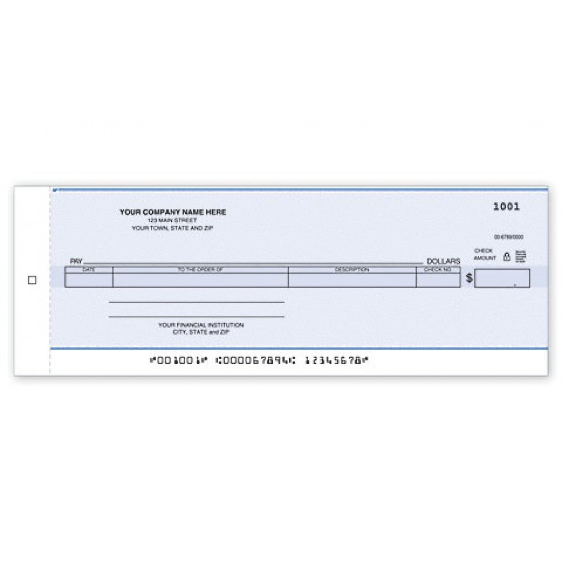 Cash Disbursement Center Check - Carbon