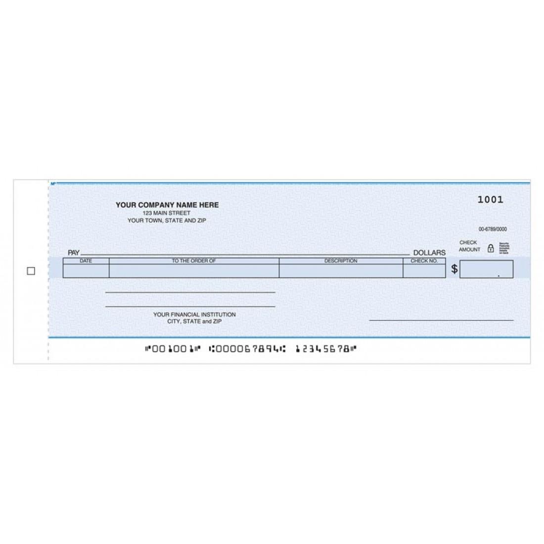 Cash Disbursement Center Check
