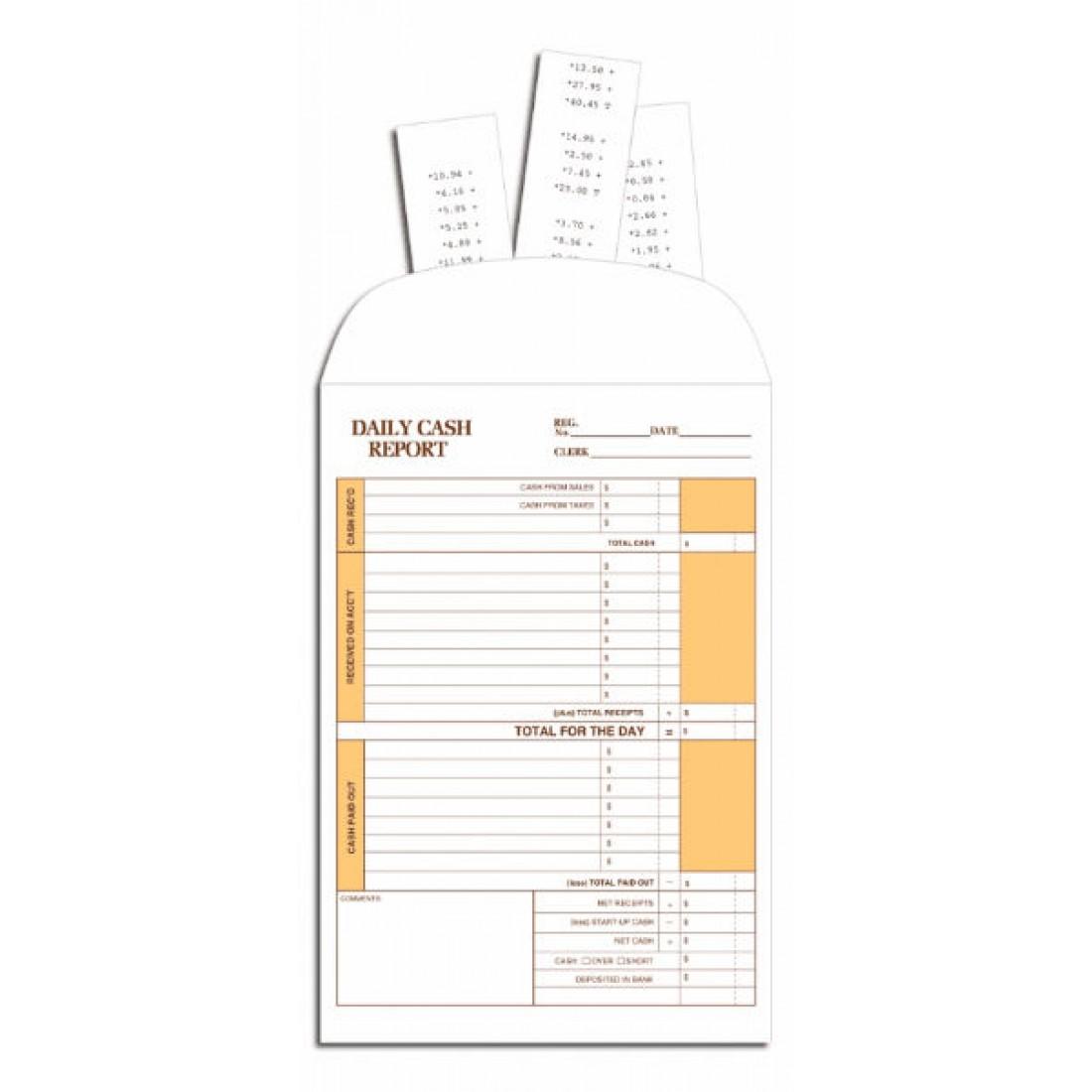 Cash Report Custom Envelopes