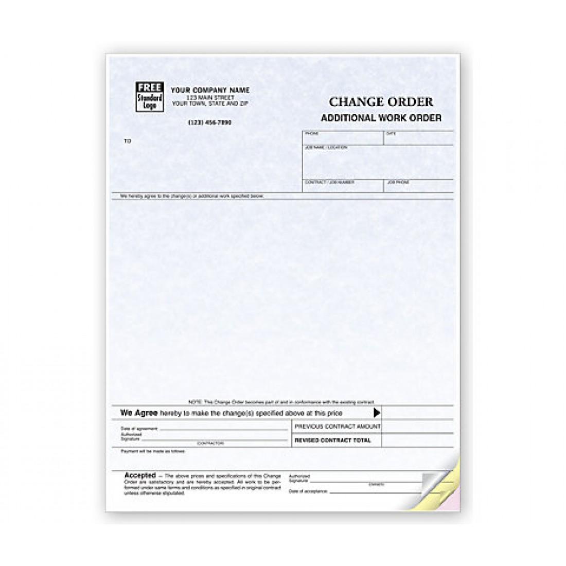 Change Orders, Laser, Parchment