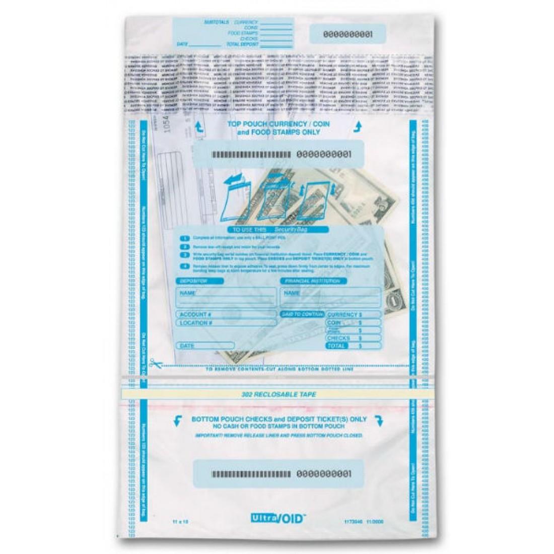 53857, Checks & Cash Deposit Bags - 10 x 15 3/4