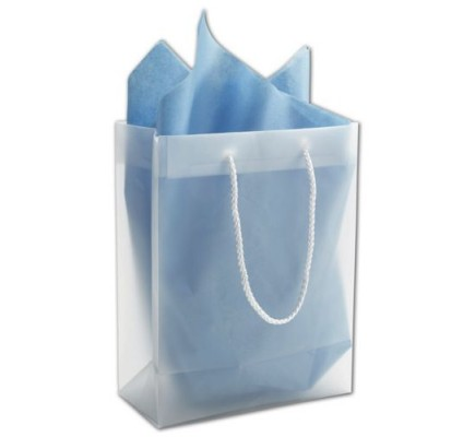 Clear Frosted Bags 8x4x10""