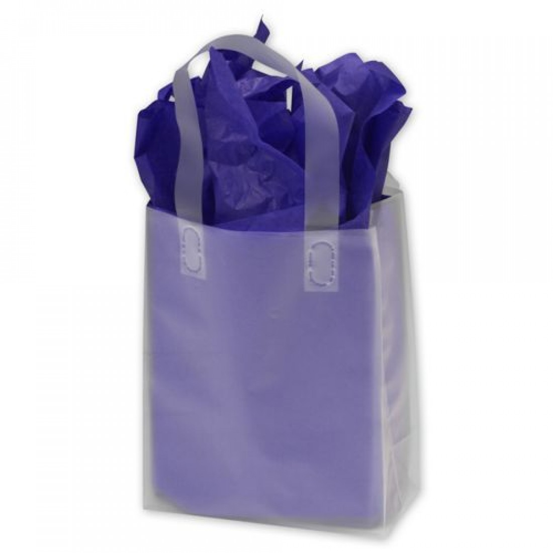 Clear Frosted High Density Flex Loop Shoppers 8 x 4 x 10