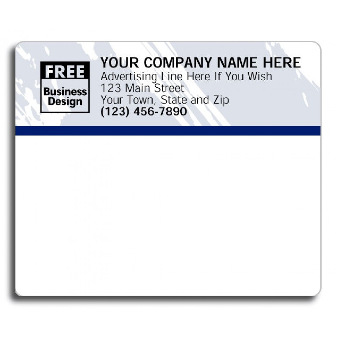 We'll then print and ship your free address labels to you within hours and you're all set, no purchase necessary! If you find your new address labels, prompt delivery, and our excellent customer service to your liking we hope you'll take some time to peruse our other address label styles and Evermine products.