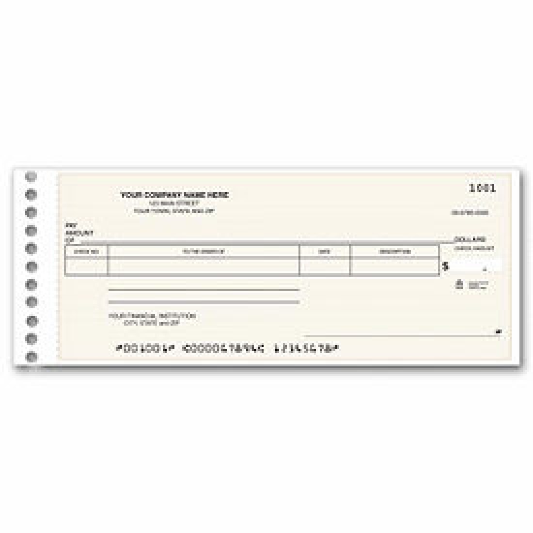 Compact General Expense Check (Item # 115011N) - One-Write Checks  - Business Checks