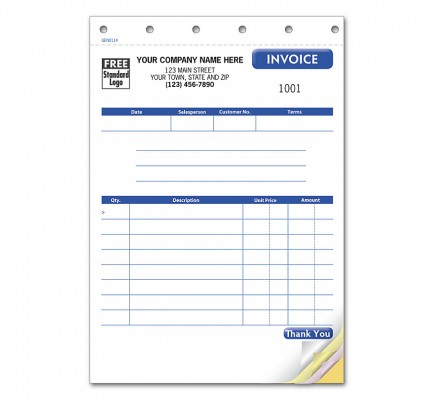 Compact Invoice, Carbonless