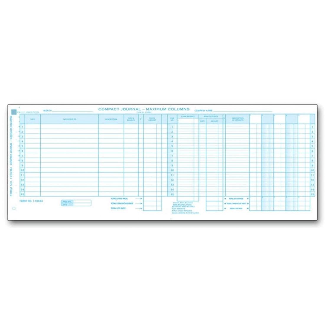 Compact One-Write Journals - One-Write Checks  - Business Checks