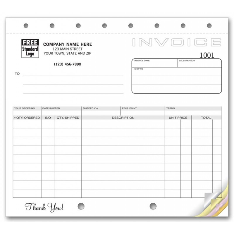Compact Shipping Invoices
