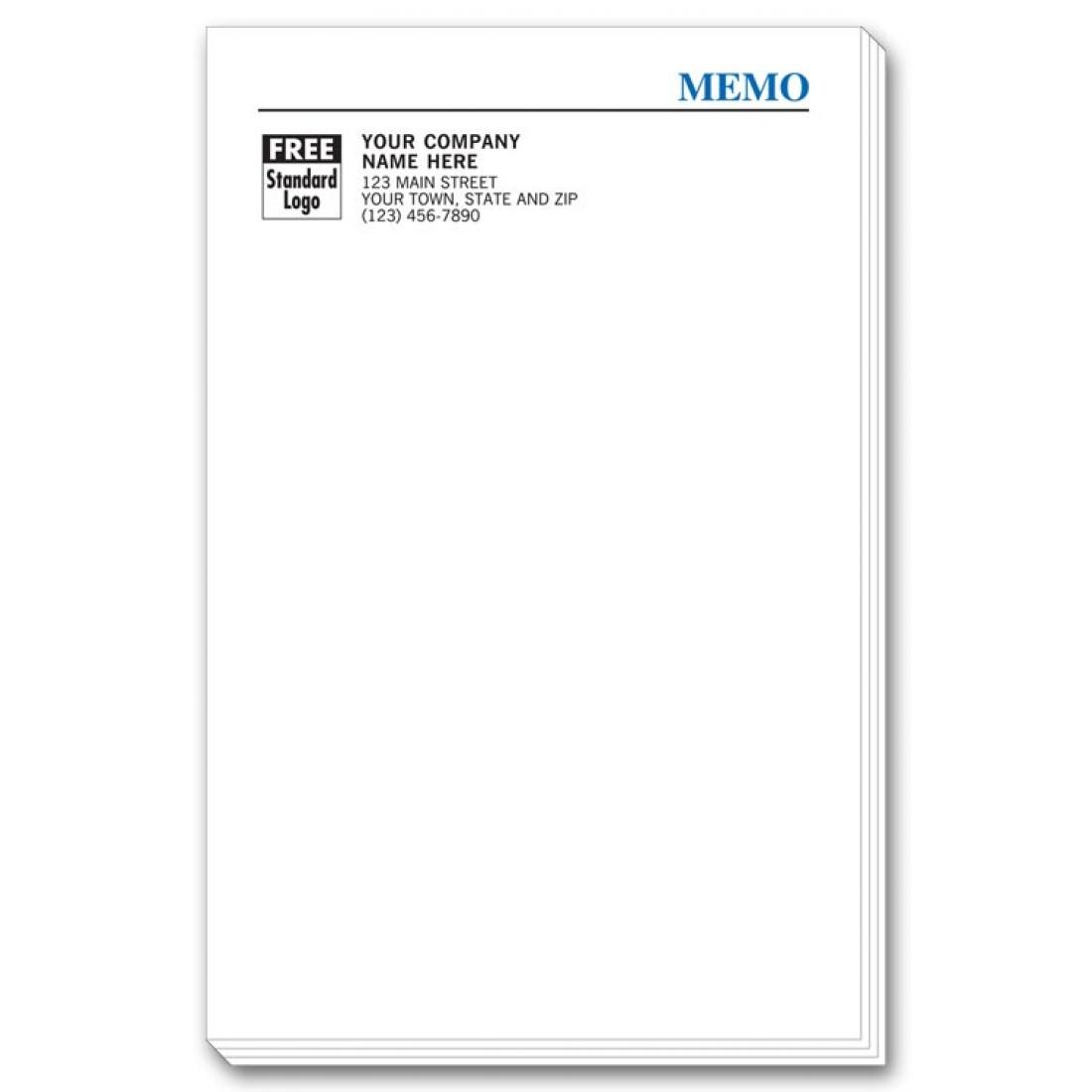 Company Info Imprinted Memo Pads