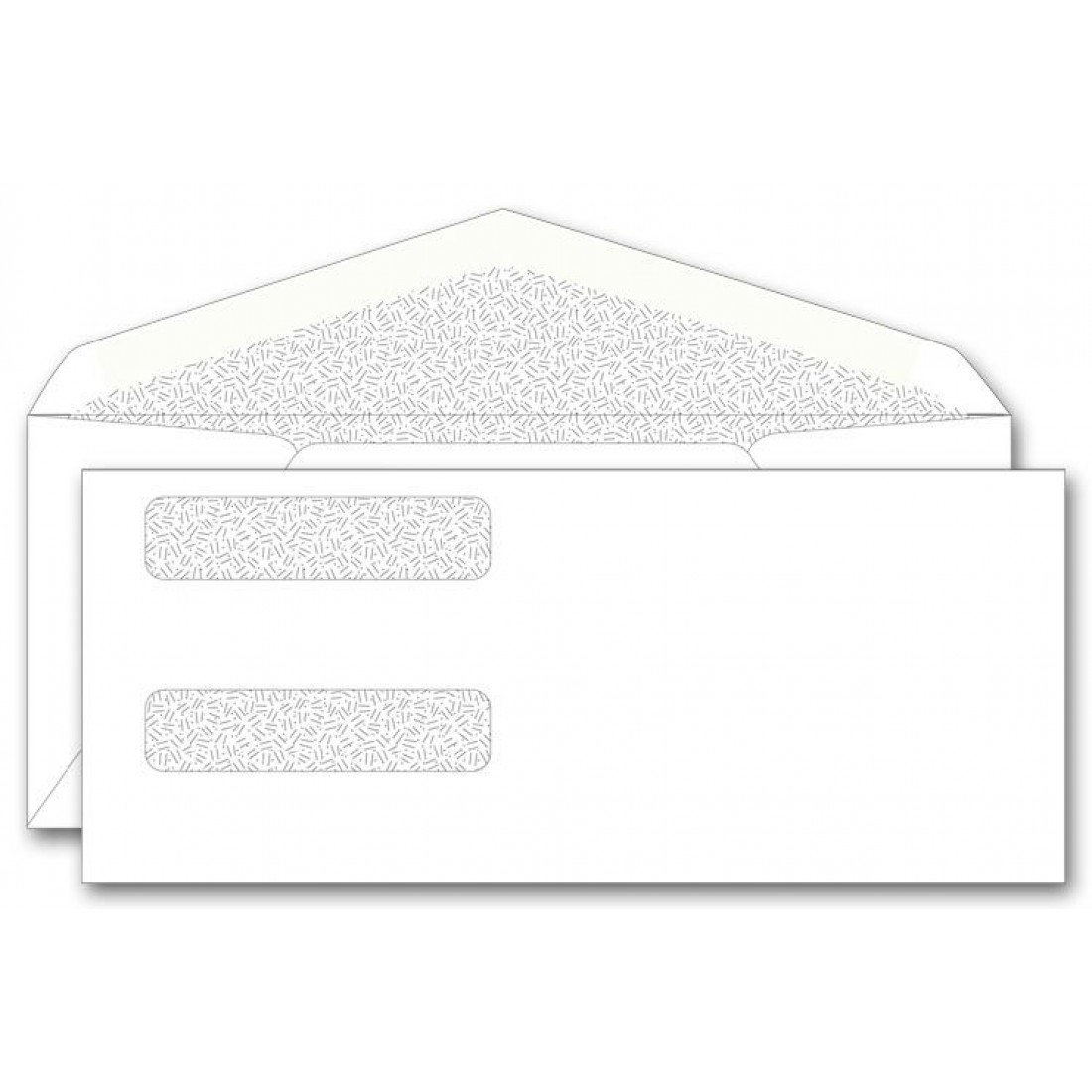 Confidential double window envelopes free shipping for Window envelopes