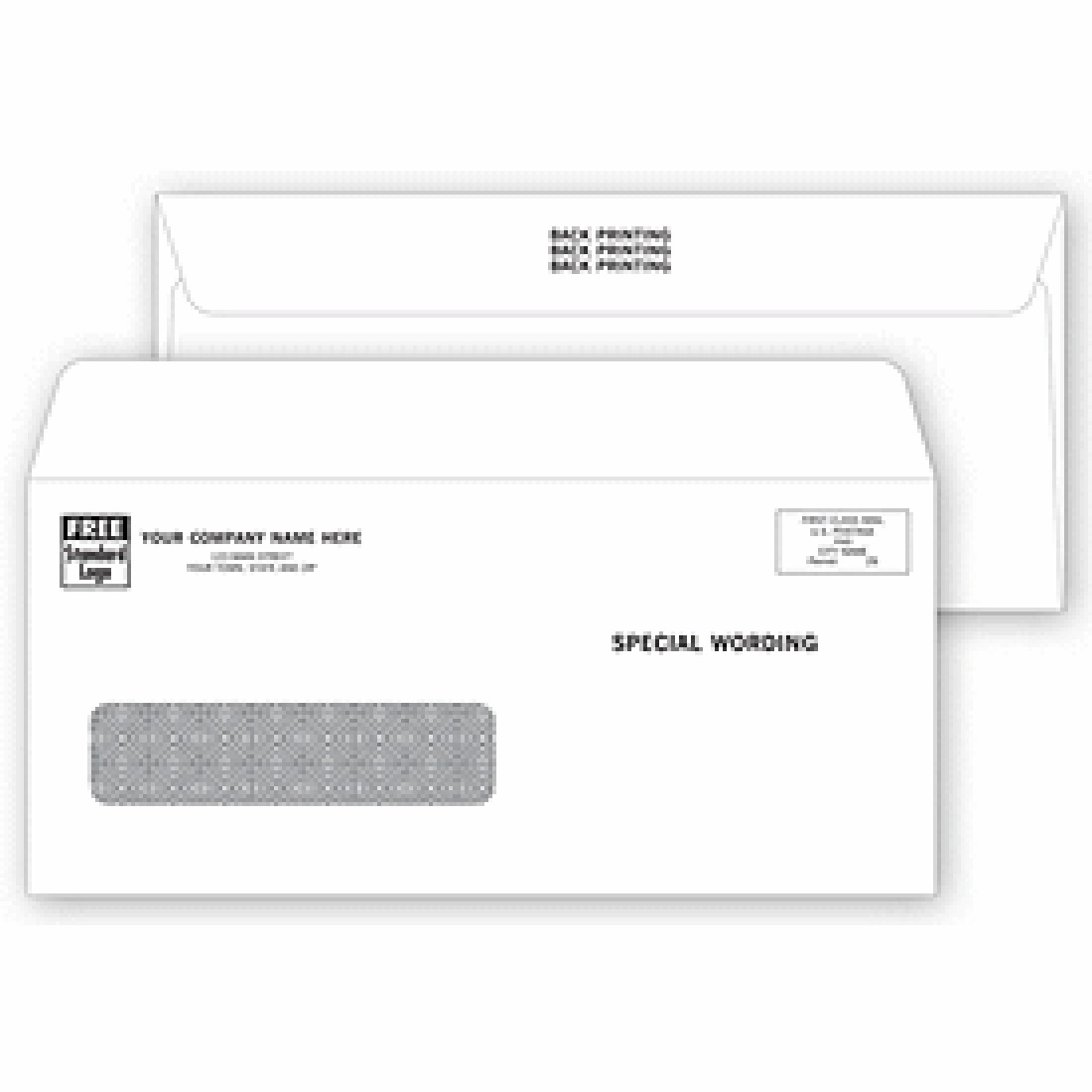 Confidential single window envelopes free shipping for Window envelopes