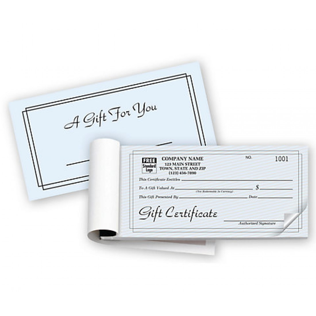 Contemporary Gift Certificates, Booked, Carbonless
