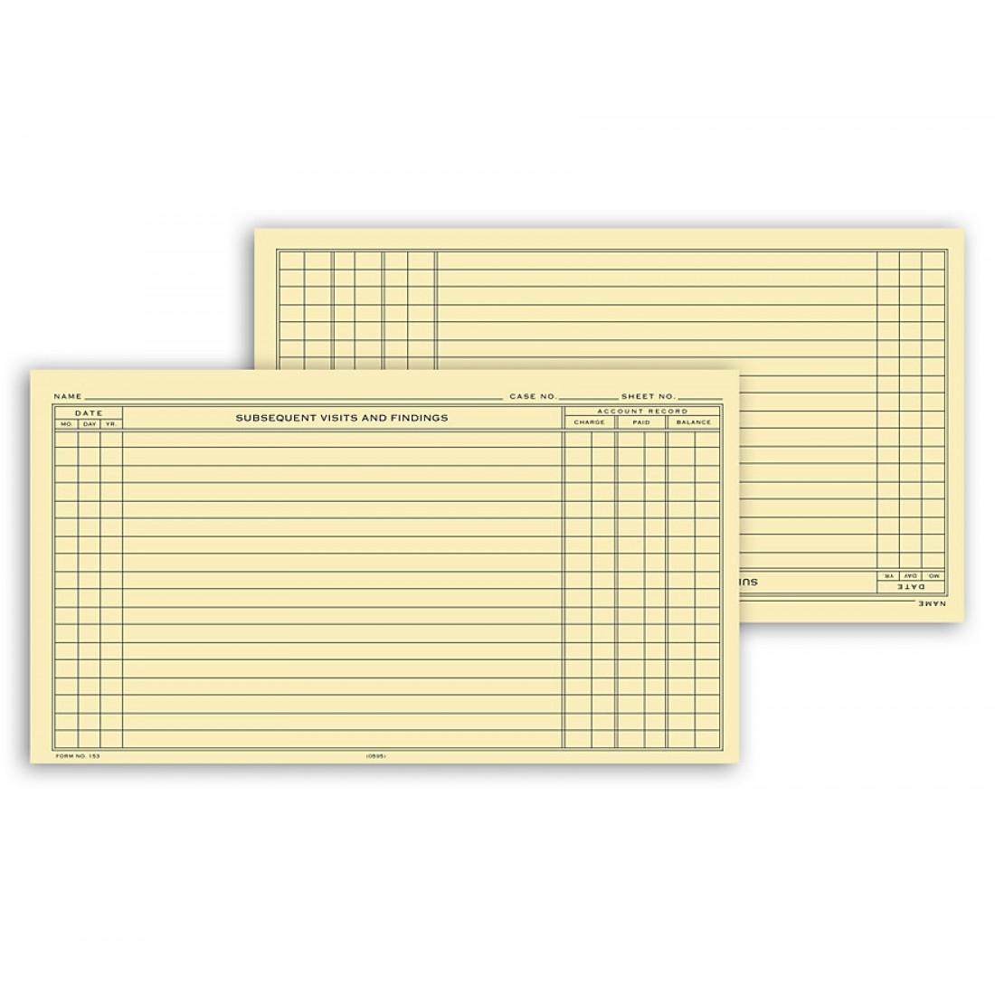 Continuation Exam Records Single Sheet