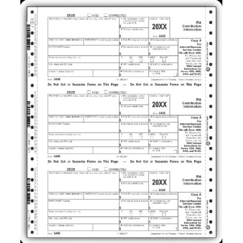 Continuous 5498 IRS Tax Forms